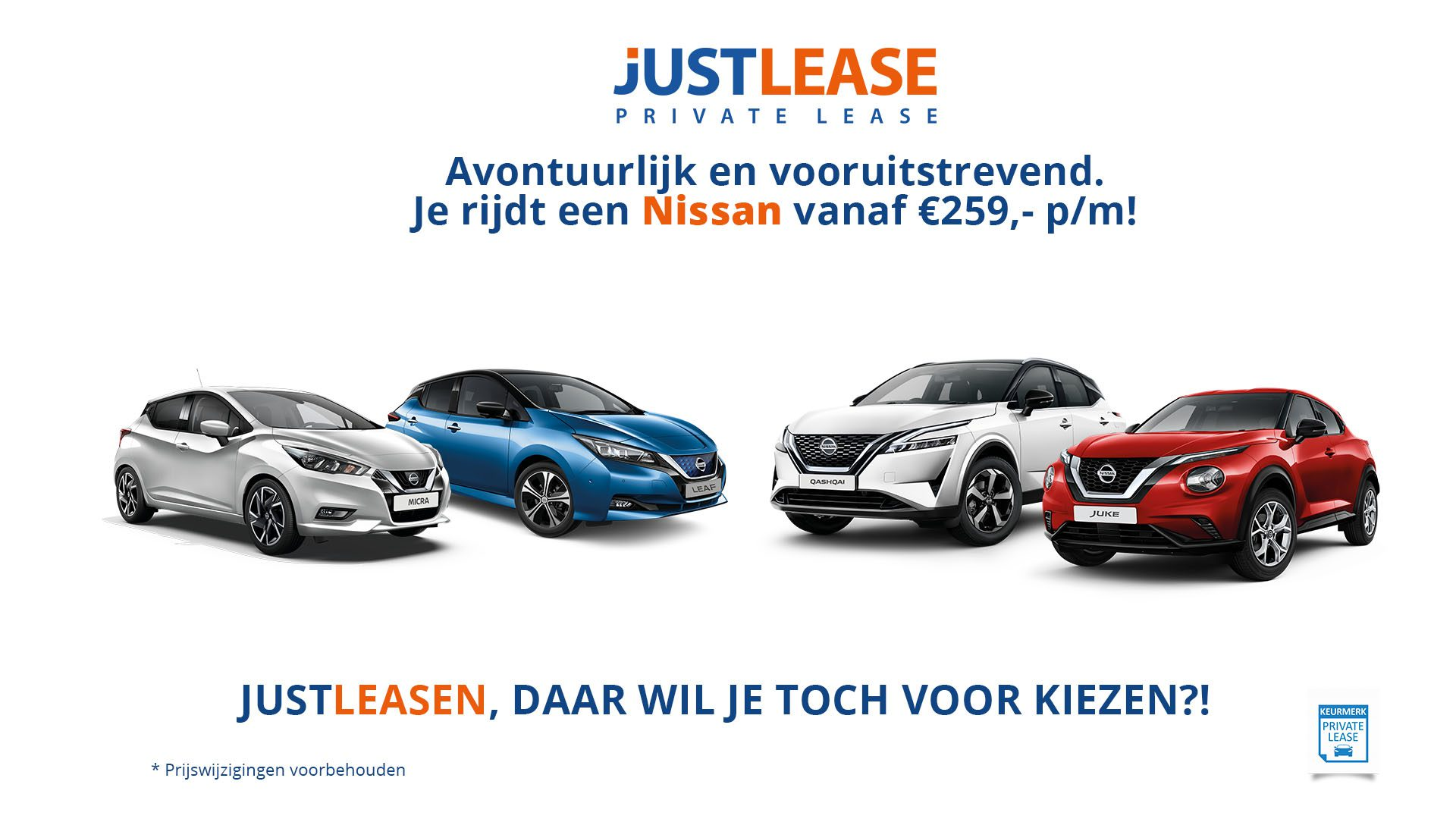 JustLease Private Lease Actie